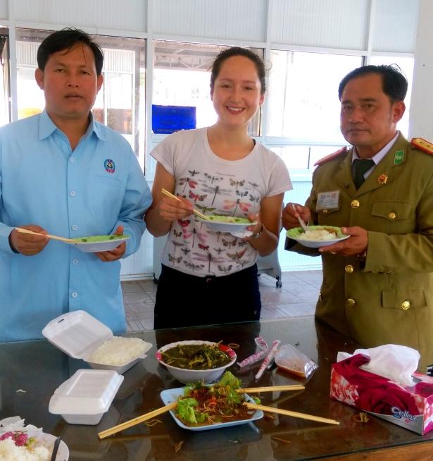 laos officer dinner rice mokita dreams