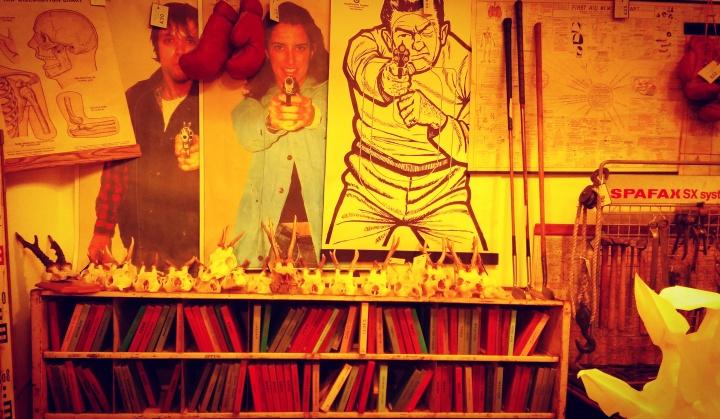 books-guns-posters-hopkinson-gallery-nottingham