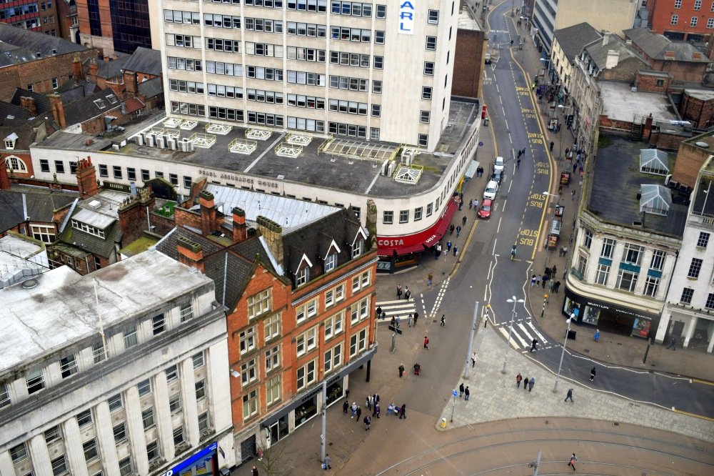 nottingham post city bird view ieva kambarovaite