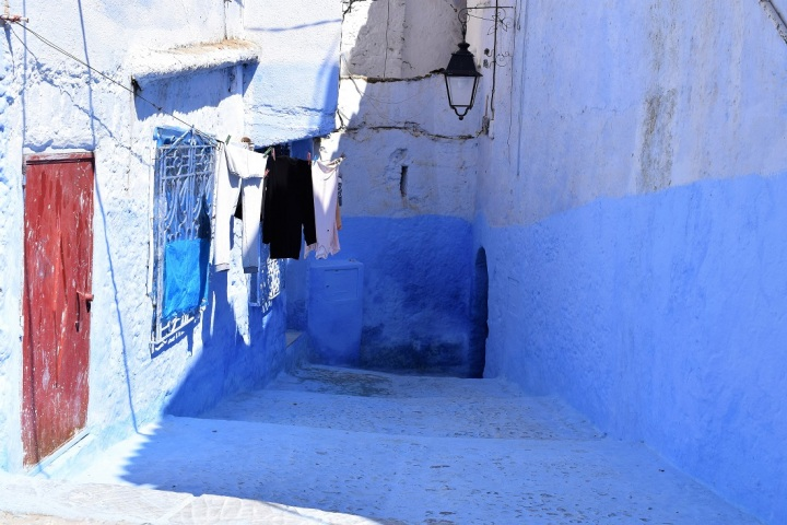 streets morocco blue city ieva kambarovaite