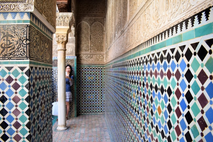 tiles old moroccan style mosque by ieva kambarovaite