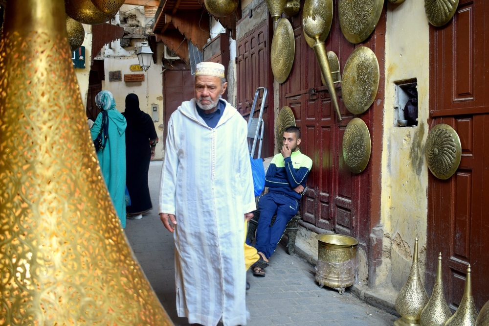 moroccan man in Fez streets by ieva kambarovaite