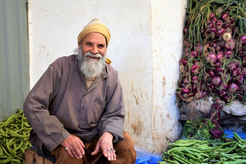 old happy man by ieva kambarovaite