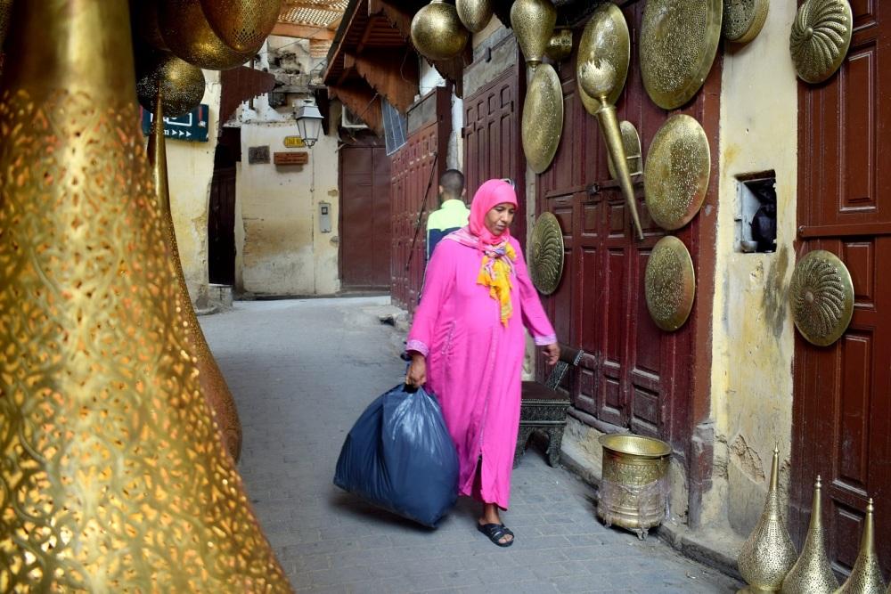 strangers in morocco Fez streets by ieva kambarovaite